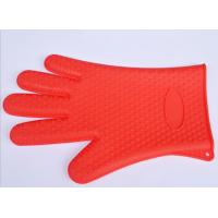 Wholesale Red Silicone Kitchen Glove Non - Slip Adiabatic For Grill , Protect Hand from china suppliers
