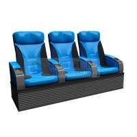 Wholesale Folded comfortable 4D Theater Seats , Newest Blue 3-DOF platform motion chair from china suppliers