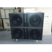 Buy cheap 4 Ohm 1800W RMS Church Sound Systems Dual 18 - inch Bass / Outdoor Subwoofer Speaker from wholesalers