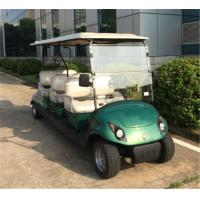 Wholesale Green Color 48V 4KW Electric 6 Passenger Golf Carts With Awnings / Flip Flop Seat from china suppliers