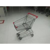 Wholesale Zinc Plating / PPG Powder Coating Wire Shopping Cart 45L For Small Market from china suppliers
