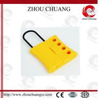 Wholesale 4 Holes colorful  Dust Proof  Steel  Nylon Lockout Hasp for lock from china suppliers