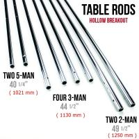 Quality Silver Chromed Solid 5 / 8 Inch Steel Rods For Standard Foosball Tables for sale