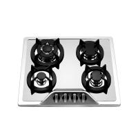 Wholesale 304 Level Stainless Steel 4 Burner Gas Hob With Wok Burner Safety Device from china suppliers