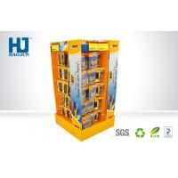 Wholesale Stationery POS Strong Cardboard Hook Display Stands 4 sides to pens from china suppliers