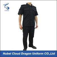 Wholesale Special Force Short Sleeve Police Tactical Uniform With Adjustable Cuff Black Color from china suppliers