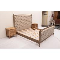Wholesale Sturdy High Headboard King Size Upholstered Platform Bed , Custom Wood And Upholstered Beds from china suppliers