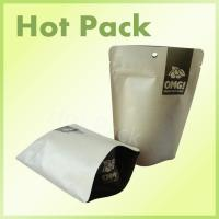 Wholesale Food Grade Organic Sulful Kraft Stand Up Pouches With Tear Notch Non - Toxic from china suppliers