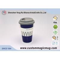 Wholesale Fashion Starbucks Ceramic Travel Mug With Lid , Color Change Mug Custom from china suppliers