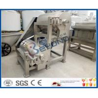 Wholesale Double Stage Fruit Pulper Machine , Mango Pulping Industrial Juice Extractor Machines from china suppliers