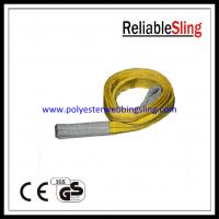Wholesale Customized Yellow 3T Flat Webbing Sling with 100% high tenacity polyester Material from china suppliers