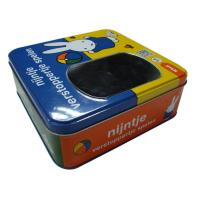 Wholesale Empty Gift Tins With Oval Window On Lid , Rolled Out Lid And Bottom from china suppliers