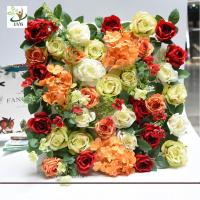 Wholesale UVG romantic rose artificial floral wall for photography backdrop art studio backgroudn decoration CHR1143 from china suppliers