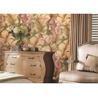 Wholesale Solid South East Asian Inspired Wallpaper , Japanese Banana Leaf Pattern Wallpaper from china suppliers