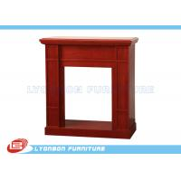 Wholesale Modern Red Decorating Fireplace Mantels For Home , Polished Surface from china suppliers