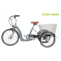 Wholesale Long Range Electric Trike Bicycle , 3 Wheel Cargo Bike With Removable Battery from china suppliers