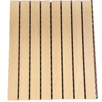 China Melamine Surface Slotted Wooden Grooved Acoustic Panel Sound Absorbing MDF Board on sale