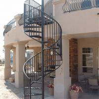 Wholesale Antique wrought iron stair circular metal spiral staircase from china suppliers