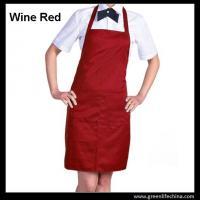 Wholesale Polyester wine red advertisement apron ready for logo printing men women tool accessory from china suppliers