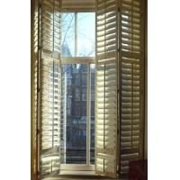 Wholesale indoor 100% basswood folding shutters for windows and doors with frame and rail from china suppliers