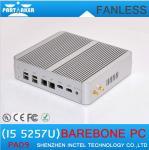 Wholesale 5th Gen CPU Broadwell Intel Core i5 5257u HD 6100 Fanless Barebone Mini PC Windows 10 Linu from china suppliers