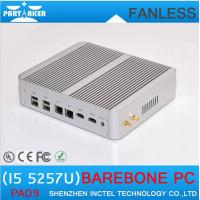 Buy cheap 5th Gen CPU Broadwell Intel Core i5 5257u HD 6100 Fanless Barebone Mini PC Windows 10 Linu from wholesalers