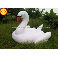 Wholesale 75 Inch Swan Inflatable Water Floats With Silk Printing / Digital Printing from china suppliers
