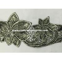 Wholesale Silver Antique Machine Embroidery Lace Trim With Metallic Foil Print from china suppliers