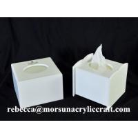 Buy cheap Cheap price wholesale cubic white acrylic tissue boxes in China from wholesalers