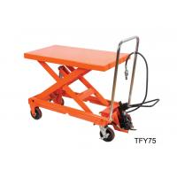 Wholesale Luxury Pneumatic Lift Table , Hydraulic Scissor Table Truck 750Kg 16501b Load Capacity from china suppliers