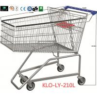 Wholesale Flat Basket Wire Mesh Metal Shopping Carts With PVC , PU , TPR Wheels from china suppliers