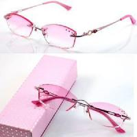 Wholesale 1010 Rimless Crystal Woman′s Optical Eyeglasses Frames from china suppliers