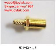 Wholesale High quality gold plated MCX jack crimp type coaxial onnector MCX-KY-1.5 from china suppliers