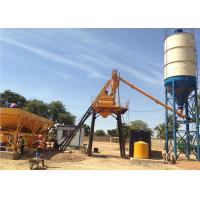 China Stationary Concrete Batching Plant With Cement Silos 15 - 200 M3 Per Hour on sale