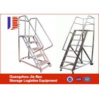 Wholesale Customized Multi - Purpose Truck Step Ladder , Tall Step Ladders With Wheels from china suppliers