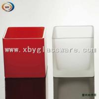 Wholesale Square frosted glass candle holder from china suppliers