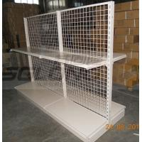 Wholesale Light Duty Convenience Store Wire Mesh Shelves Tegometal Gondola Double Sided from china suppliers