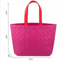 Wholesale Hot-selling Fancy Popular Foldable Non woven bag Shopping bag with Lattice emboss from china suppliers