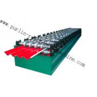 Wholesale PLC Hydraulic Ridge Cap Roll Forming Machine , Automatic Galvanized Metal Rolling Form Line from china suppliers