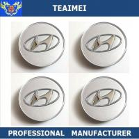 Wholesale 60MM Chrom ABS Plastic Car Logo Custom Wheels Center Caps For Hyundai from china suppliers
