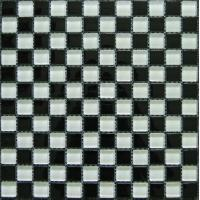 Wholesale Classic White Black Crystal Glass Mosaic Tile For Kitchen Backsplash from china suppliers