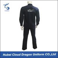 Quality Customized Spring Autumn Security Guard Dress Uniform For Middle East , Black Color for sale