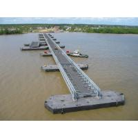 Wholesale Highway Bailey Steel Bridge , Modular Recyclable Military Floating Bridge from china suppliers