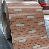 Wholesale Q235 Brick Grained Colored Steel Sheet in Coil thickness 0.2 - 1.0mm / SGCC from china suppliers