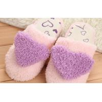 "Wholesale Cartoon 11"" 3D Love girl Plush Slippers and Boots , comfortable ladies slippers from china suppliers"