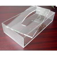 Wholesale Hot Sell Red Acrylic Tissue Box for Hotel from china suppliers