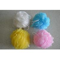 Quality mesh Exfoliating Bath Sponge-shower Pouf for sale