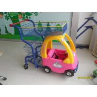Wholesale Plastic 70L Supermarket Kids Play Shopping Cart With Color Powder Coating from china suppliers