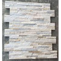 Wholesale Ivory Quartzite Waterfall Shape Ledgestone,Milk White Quartz Thin Stone Veneer,Off-white Culture Stone from china suppliers