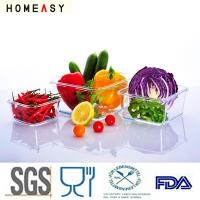 Wholesale Microwave Safe Pyrex Glass Lunch Containers  For Food Airtight / Watertight from china suppliers